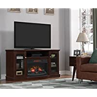 ChimneyFree Media Electric Fireplace for TVs up to 65, Brown, 60W x 19.5D x 32H