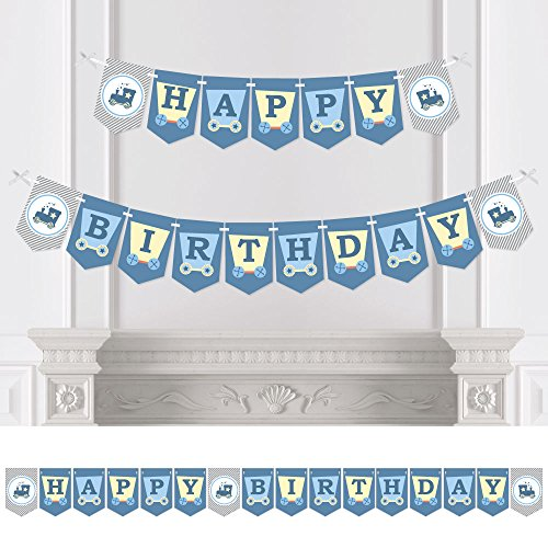 Train - Birthday Party Bunting Banner - Train Party Decorations - Happy Birthday (Pennant Train)