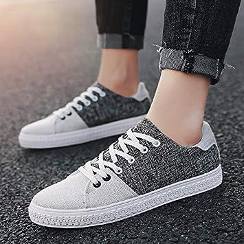 NANXIEHO Moda Ocio Hombres Zapatos de Lona Deporte Zapatillas Tendencia Estudiante Zapatos: Amazon.es: Deportes y aire libre