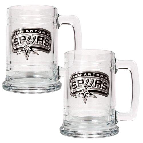NBA San Antonio Spurs Two Piece 15-Ounce Glass Tankard Set - Primary Logo