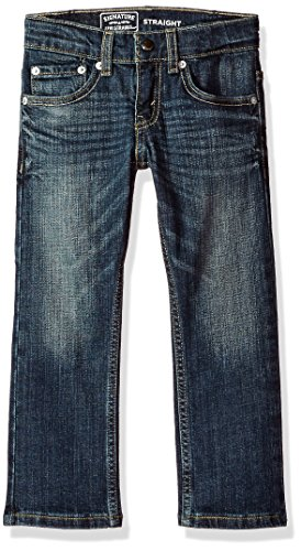 Signature by Levi Strauss & Co. Gold Label Big Little Boys' Straight Fit Jeans, Perth, 7 (Levi 505 Slim Boys)