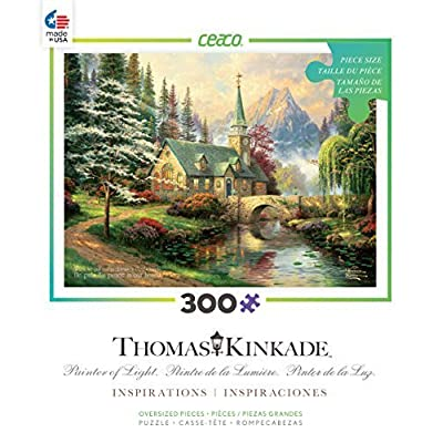 Ceaco Thomas Kinkade Inspirations Dogwood Chapel Puzzle By Ceaco