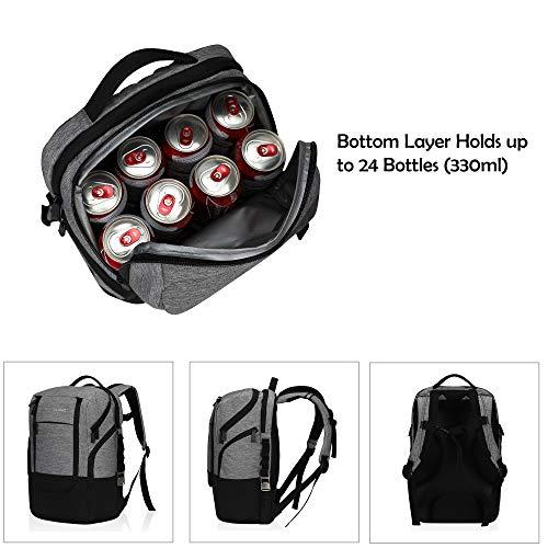 Bolsa-de-Almuerzo-22L-Cooler-Backpack-24-Cans-Cooler-Bag-Gris miniatura 5