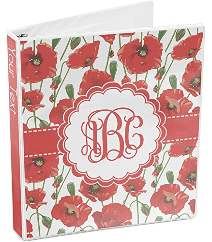 Poppies 3-Ring Binder (Personalized) ()