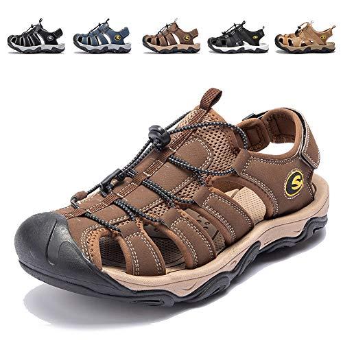 53c2cc10ee0a KIIU Closed Toe Sandals Athletic Sport Water Sandal for Men Outdoor  Fisherman Sandal (12M Brown