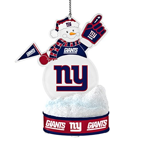 NFL New York Giants LED Snowman Ornament