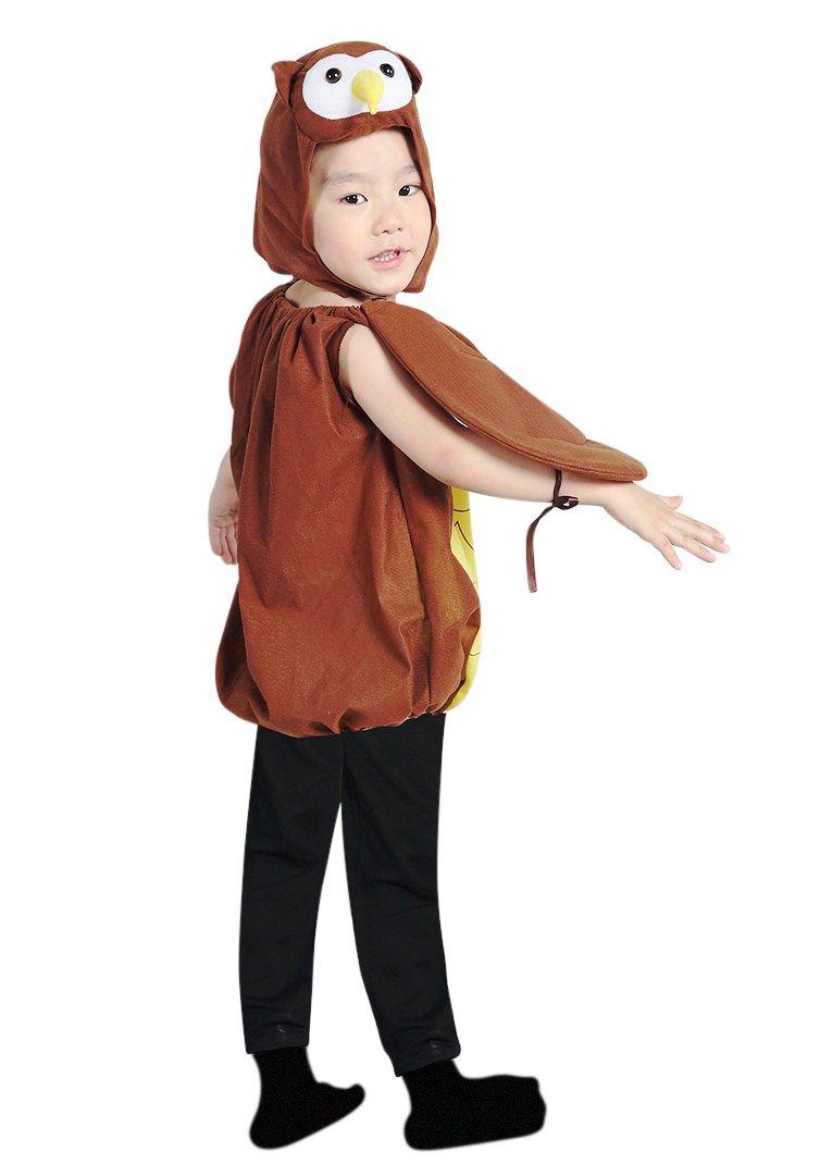 F68 Tamaño para llevar 3-4 años búho traje para bebés y niños ...