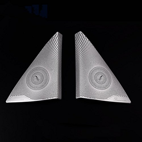 Matte Car Door Audio Speaker Cover Trim 2pcs For Benz C Class W204 2008-2013