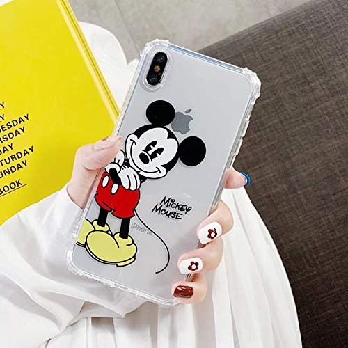 Best_Gift0 iPhone 6 Case, iPhone 6S Mickey Mouse Case, Boys Girls Cute Cartoon Shockproof Soft Clear Case Cover Skin for Apple iPhone (#1 Mickey Mouse, for iPhone 6S/6) (Clear Mickey Mouse Iphone 6 Case)