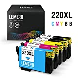 LEMERO Remanufactured Ink Cartridges Replacement for Epson 220 220XL 220 XL - for Epson Workforce WF-2630 WF-2650 WF-2660 WF-2760 WF-2750 XP-320, 5 Pack
