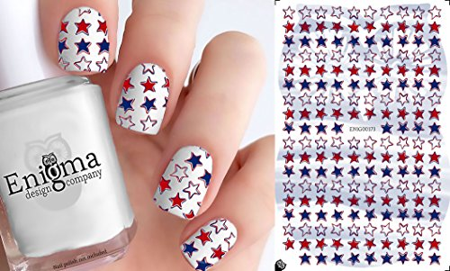 4th of July Accessories - Vol II (Clear Water-Slide Nail Decals)