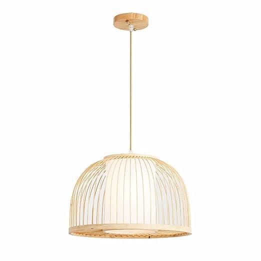 Lámpara de Techo Bamboo Woven Chandelier Restaurante Creativo Cafe ...