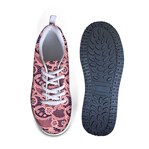 Dellukee Walking Sneakers Lätt Söta Bekväma Klassiska Kvinna Gymnastiksko Skor Mellanrosa