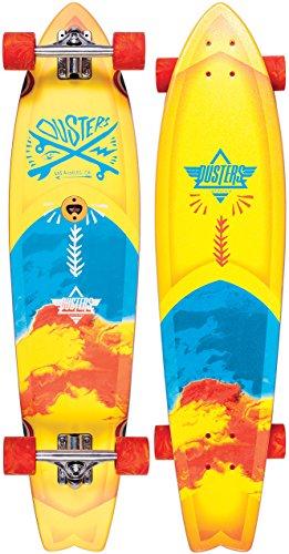 Dusters 10531225 Blotter Marble Longboard, Yellow/Blue, Size 37