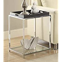 End Table with Black Tray