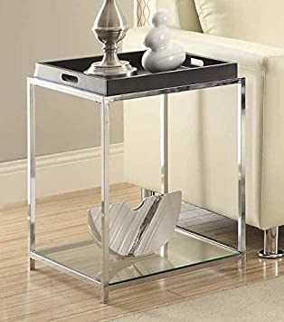 Convenience Concepts End Table with Black Tray