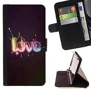- Effects LOVE - - Monedero PU titular de la tarjeta de cr????dito de cuero cubierta de la caja de la bolsa FOR Apple Iphone 5C RetroCandy