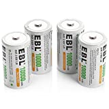 Best D Batteries - EBL D Size Battery D Cell 10000mAh Huge Review