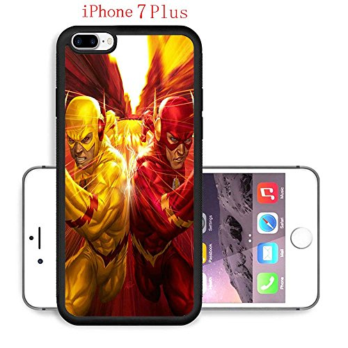 iPhone 7 Plus Case, The TV Series The Flash 82 Drop Protection Never Fade Anti Slip Scratchproof Black Soft Rubber Case