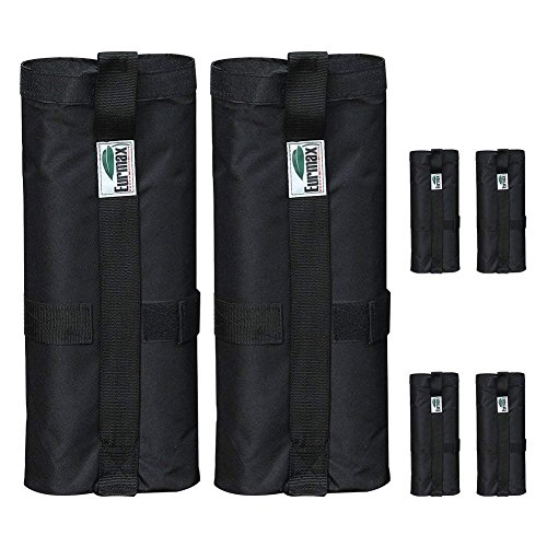 Eurmax Weight Bags for Pop up Canopy Instant Shelter, Sand Bags, Leg Weights for Pop up Canopy Weighted Feet Bag Sand Bag, Set of 6