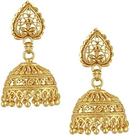 Bodha 18k Gold Plated Traditional Indian Jhumka Earrings (SJ_34)
