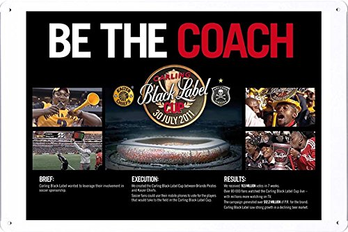 tin-sign-metal-poster-plate-8x12-of-carling-black-label-be-the-coach-image-by-food-beverage-decor-si