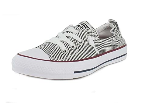 67e79c233a641d Converse Womens Chuck Taylor All Star Shoreline Low Top White Black RED  Sneaker -