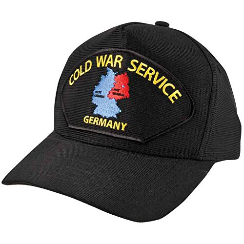 Medals of America Cold War Service in Germany Black USA Made Hat One Size ()