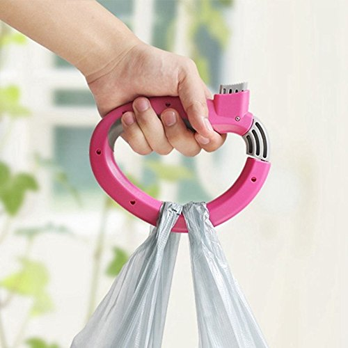 S&M TREADE-D Shape Shopping Bag Holder Trip Grip Handle Carrier Lock Grocery Random Color (Garbage Bag Body Halloween)