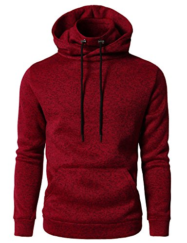 H2H Mens Fleece Lined Sweatshirt Zip Turtleneck Slim Cut Knit Sweater RED US M/Asia L (CMOHOL040)