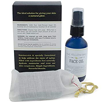 All Natural Charcoal Face Soap Moisturizing Face Oil Set. Acne Skincare Kit. Gentle Facial Soap Anti-Aging Face Oil Moisturizer for Dry Sensitive Skin. Dry Skin Treatment for Men and Women.