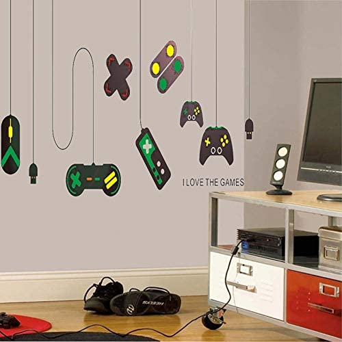 """/""""Gamer/"""" Boys Room Decorations for Bedroom 19.7 /× 22.0 Inch SITAKE Game Room Decor Kids Wall Decor and Wall Stickers for Playroom"""