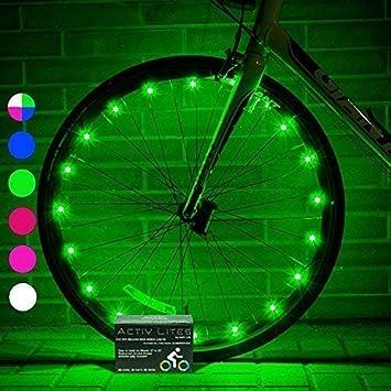 Luces LED para Ruedas de Bicicletas Activ Life con Baterías Incluidas. Obtén un 100%
