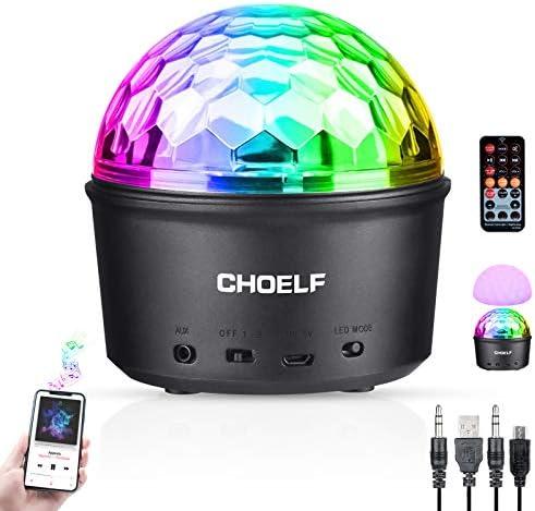CHOELF Discobal LEDnachtlampje disco lichteffecten met bluetoothluidspreker discolamp muziekgestuurd 9 kleuren disco lamp bol met afstandsbediening USBkabel voor kinderen verjaardag