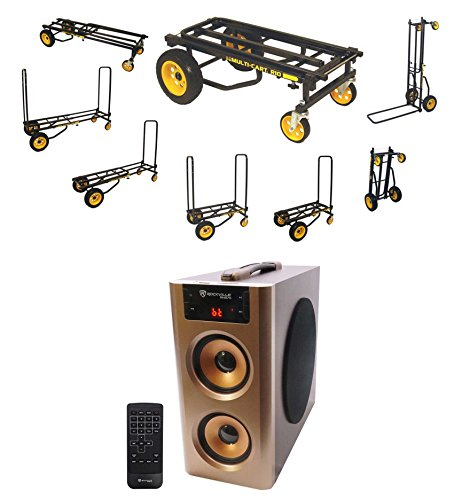RocknRoller R10RT R10 500lb Capacity DJ PA Equipment Transport Cart + Speaker