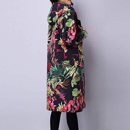 Encargo Talla Señoras Verde Chaqueta Outwear Puffer De Folk Acolchado Casual Largo Invierno Fuweiencore Prendas Mujeres Escudo Las Grande Algodón Abrigo Parka qRx6n48