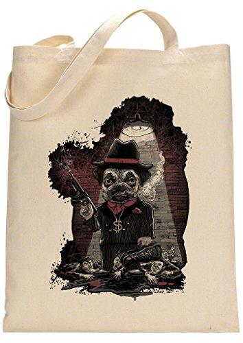 Custom Pug Bag Tote Made Gangster YWqPF