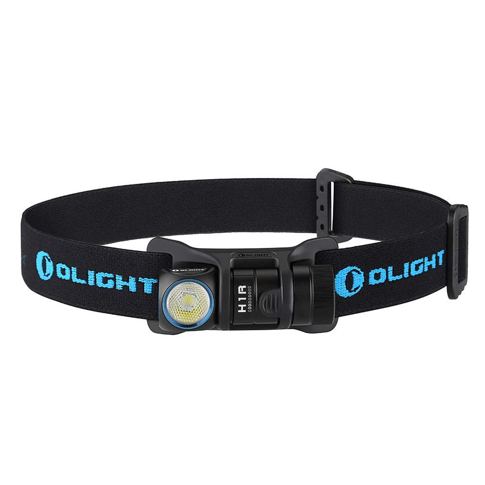 Bundle: Olight H1R Cree XM-L2 LED 600 Lumen Rechargeable Headlamp Flashlight, 5 Brightness Level with SOS Mode, EDC Running, Camping Lightweight with RCR123A Battery Olight Patch (CW) by OLIGHT