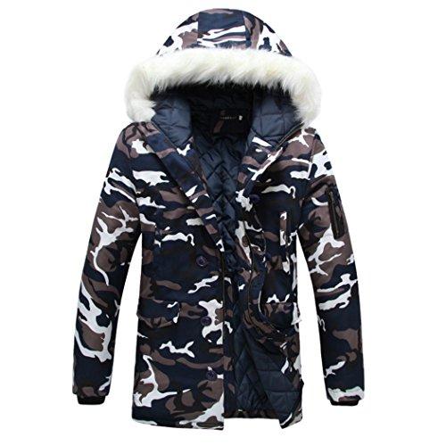 camouflage Camouflage Hooded Puffer Jacket Windproof WALK Coat Men's LEADER Winter AYWUSqEz