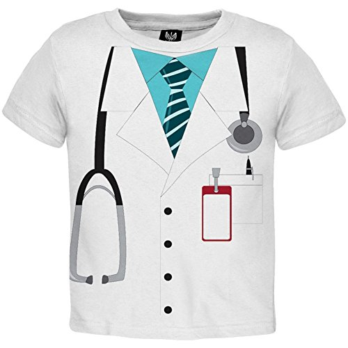 [Old Glory - Unisex-baby Doctor Costume Toddler T-shirt 2t White] (Doctor Costumes For Toddlers)