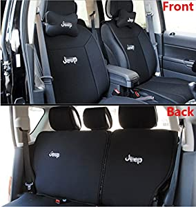 fmtoppeak one set front rear car seat covers seat cushions for 2011 2016 jeep. Black Bedroom Furniture Sets. Home Design Ideas