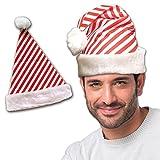 Candy Cane Stripe Santa Hat - 12 Pack