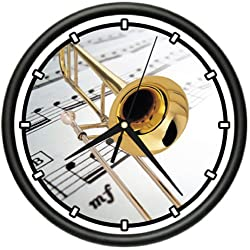 TROMBONE Wall Clock brass musical orchestra new gift