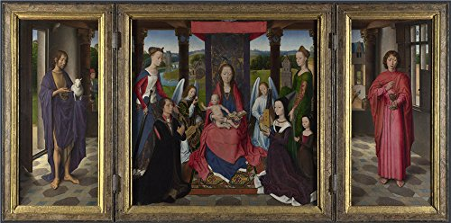 Oil Painting 'Hans Memling The Donne Triptych', 30 x 60 inch / 76 x 154 cm , on High Definition HD canvas prints is for Gifts And Game Room, Kitchen - Frames German Eyeglass Manufacturers