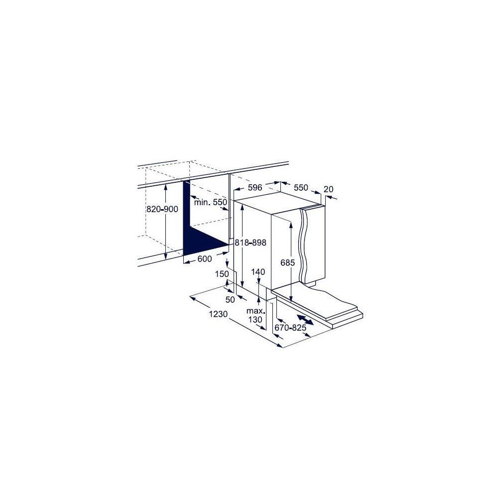 Electrolux ComfortLift KECB 7300 L - Lavavajillas integrado (60 cm ...