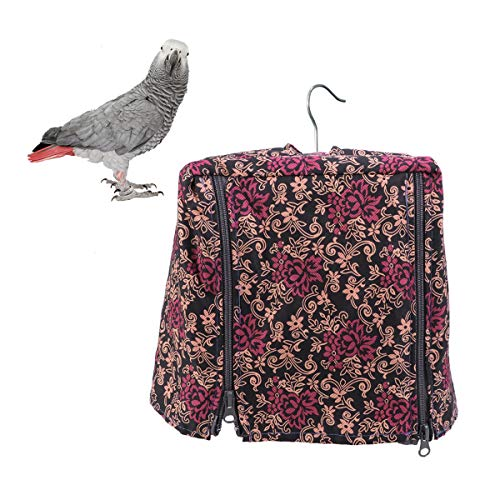 POPETPOP Bird Cage Covers-Good Night Bird Cage Cover Double Zipper Cage Garment Pet Bird Cover for Cockatiel,Parrot…