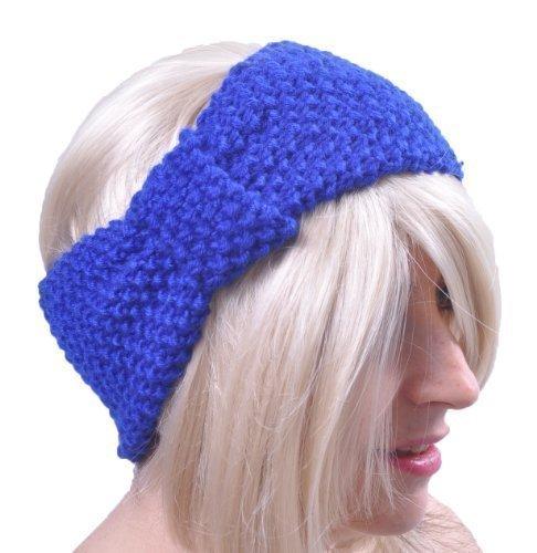 Style Nuvo - Damen Kopfband Aus Wolle Gestrickte Schleife Einfarbig Ski Ohrwärmer Breites Band