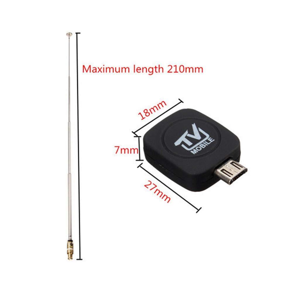 332PageAnn DVB-T USB Sintonizador Receptor Antena HD TV Splitter para Android Smartphone Tablet PC HDTV Mini Tamaño, Ligero, fácil de Transportar: ...