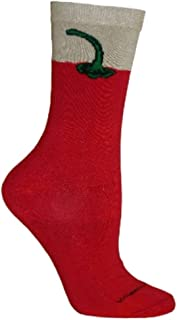 product image for Chili Pepper Novelty Adult 9-11 Socks by Wheel House Designs USA Made SKU PH 1720