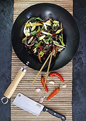 KitchenCraft WFWOKGSET World of Flavours - Wok antiadherente ...